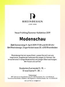 Plakat Modenschau